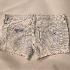 Railroad Stripe Fringe Shorts